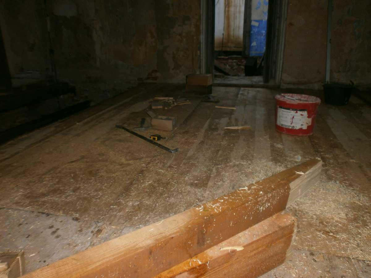Oprava stropních trámů a podlah 2018