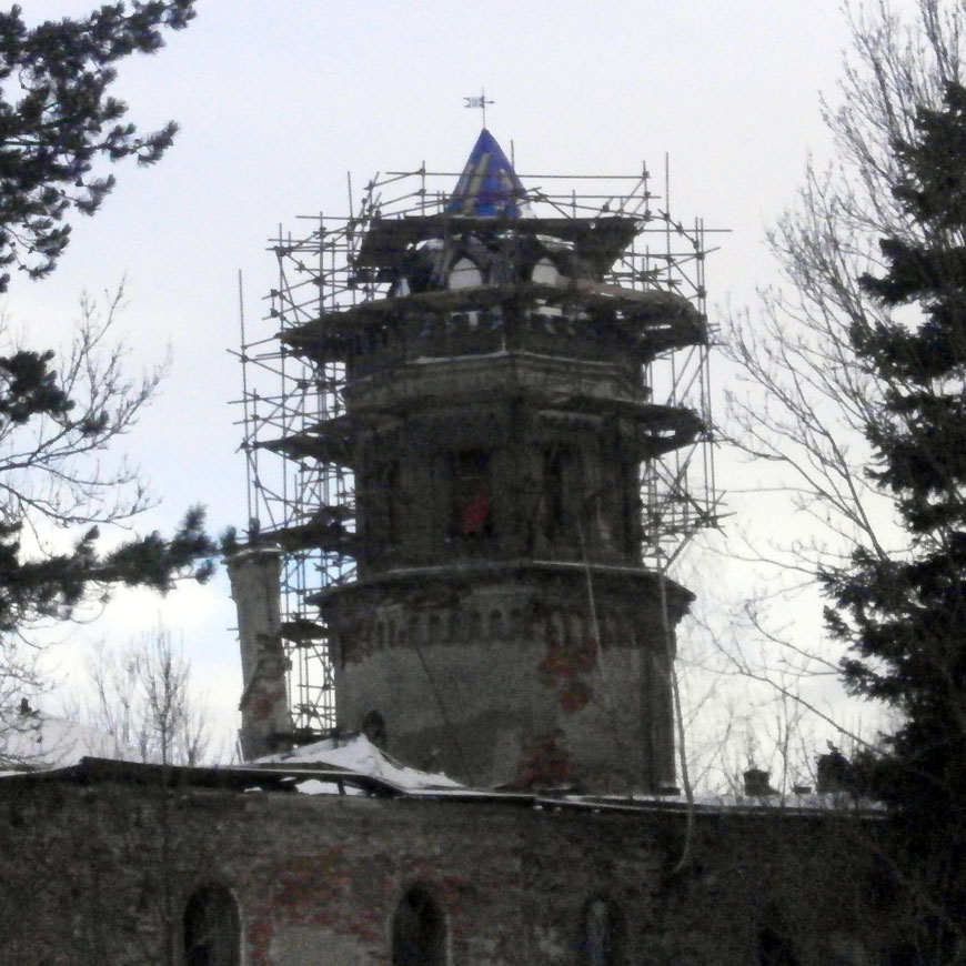 Reparatur von Turmdächern 2016