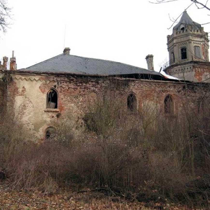 Současný stav zámku Veselí nad Úhlavou